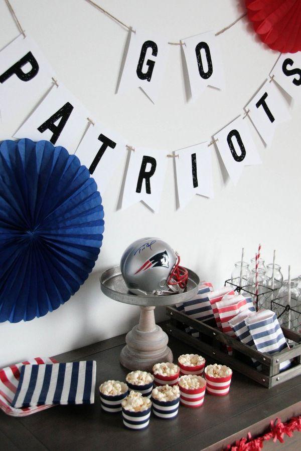 Super Bowl DIY Party DecorationPatriots Sign