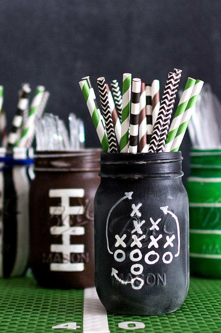 football party mason jars