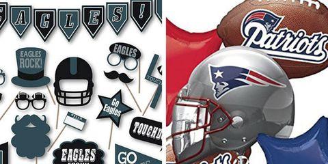 Super Bowl Decorations Patriots Eagles