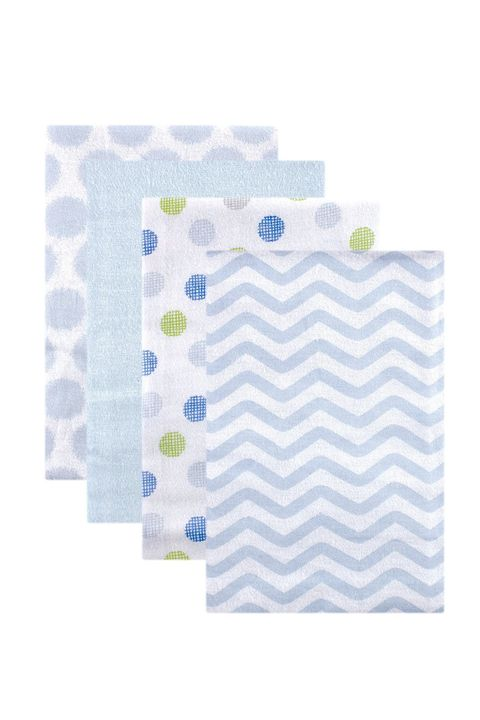 luvable friends flannel 4 piece receiving blanket