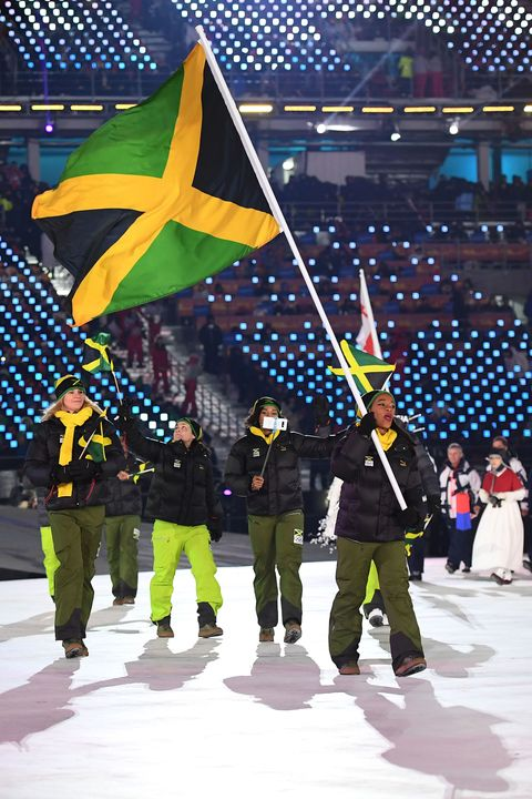 jamaican flag bearer