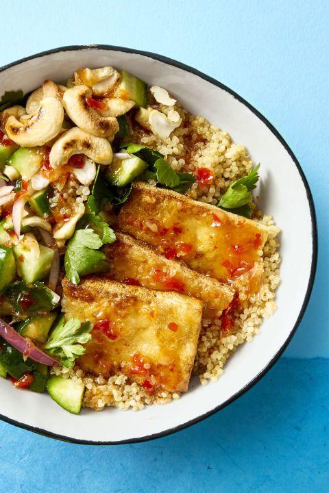 Crispy Tofu Bowl - Healthy Lunch Ideas