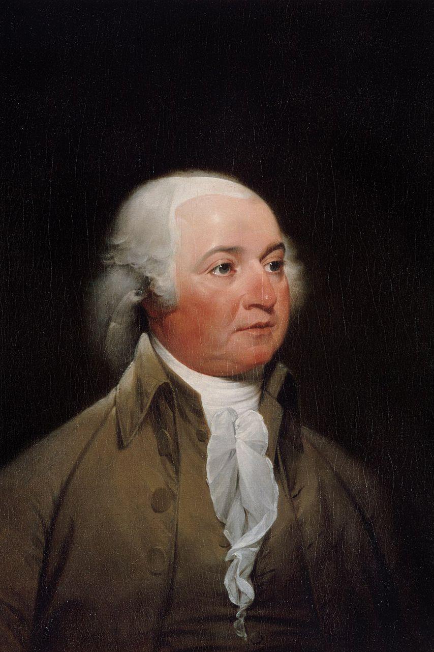 U.S. President Facts John Adams Painting Portrait