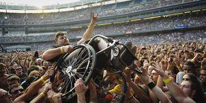 wheelchair crowd surfer