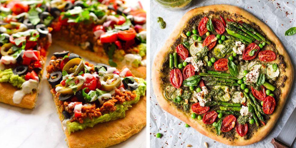 vegansk pizza topping