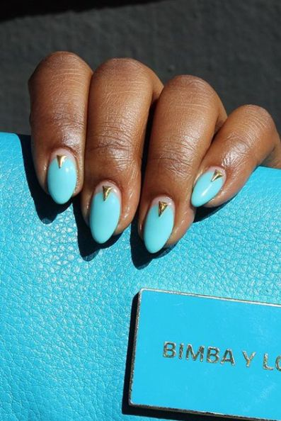 Light Blue Acrylic Nails Design