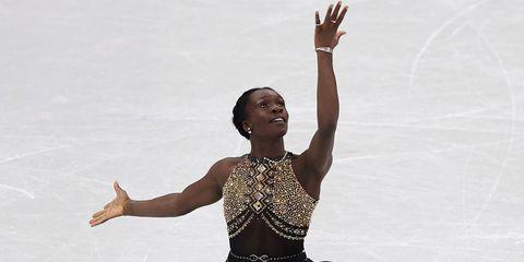 Maé-Bérénice Méité figure skating pants