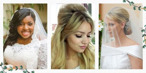 16 best wedding hairstyles for short and long hair 2018 romantic deciding what to do with your hair on your wedding day can feel almost as important as deciding whether or not to say yes to the proposal junglespirit Images
