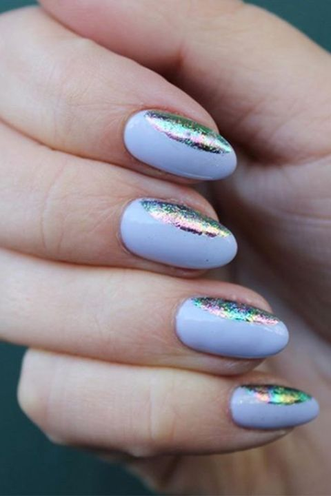 InstagramPaintbox. Holographic Foil Nails - 15 Almond Shaped Nail Designs - Cute Ideas For Almond Nails