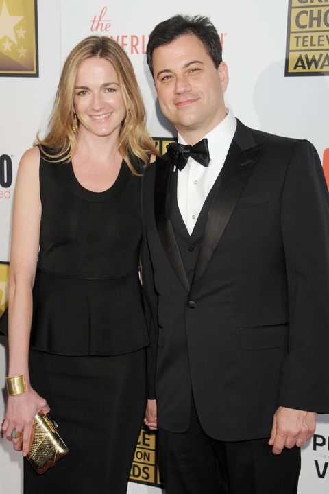 Jimmy Kimmel with wife