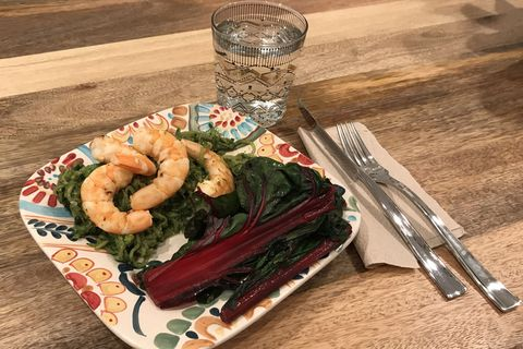 shrimp and chard