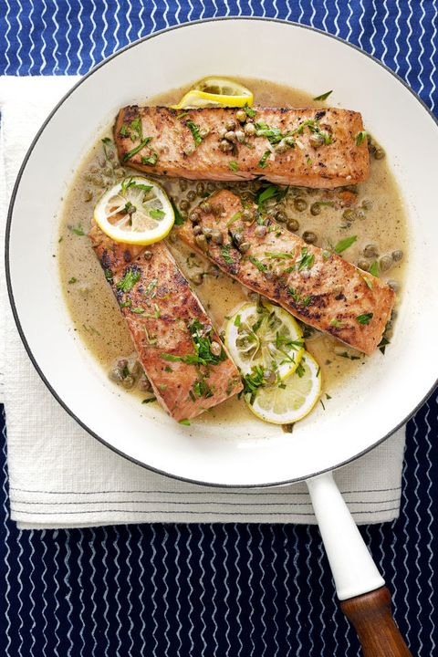 Lemony Salmon Piccata - Mother's Day Dinner