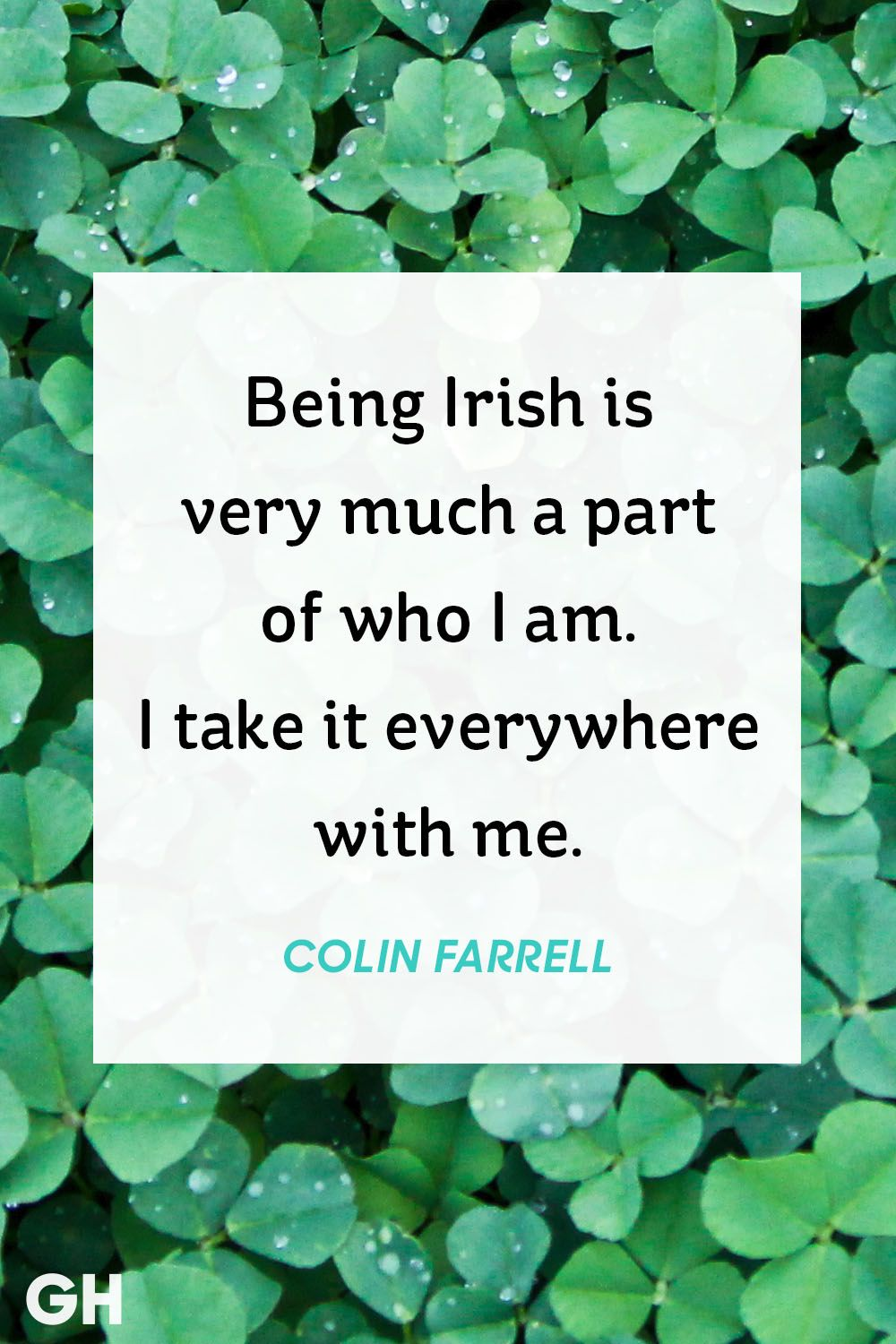 colin farrell st patrick's day quote