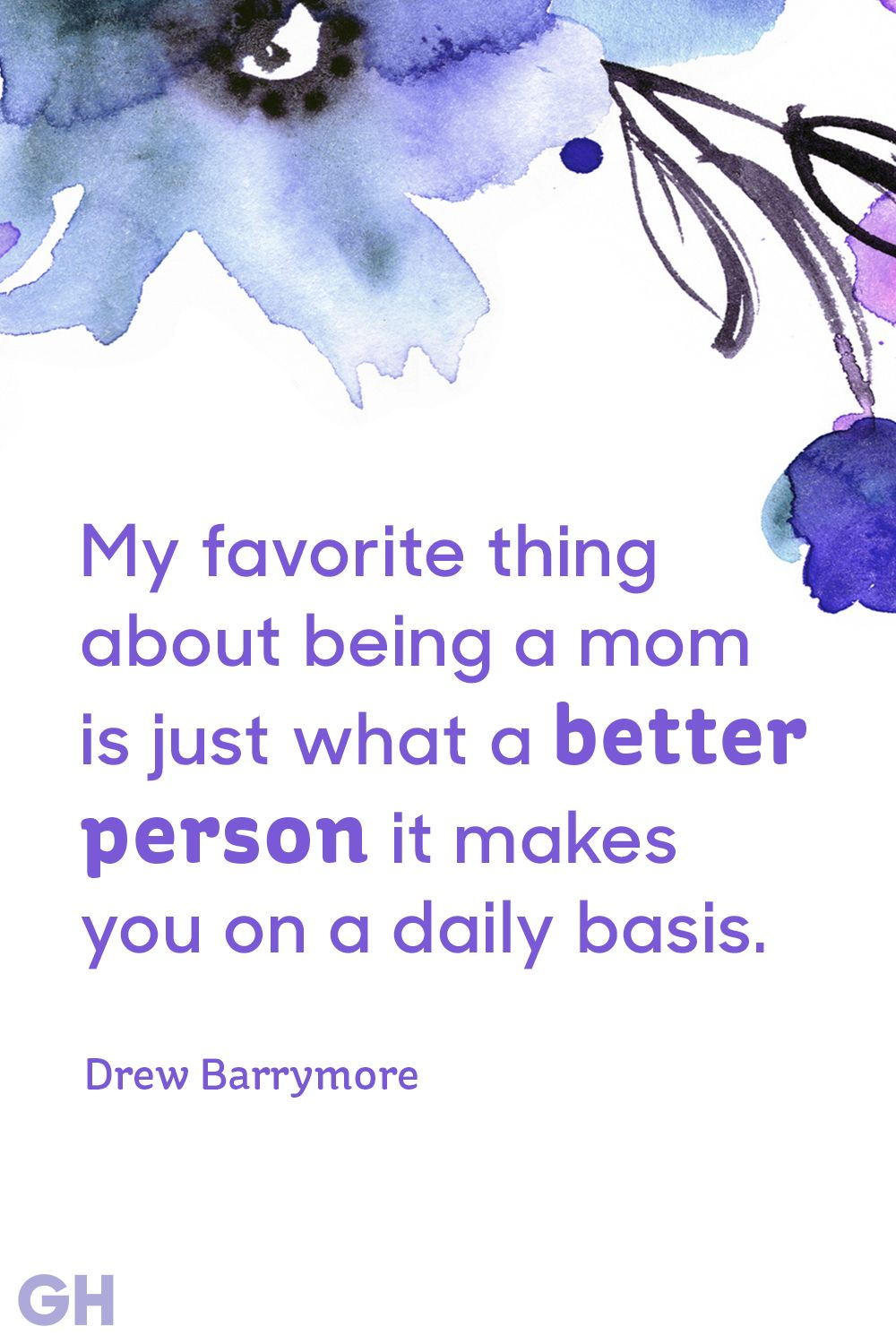 drew barrymore mother's day quote