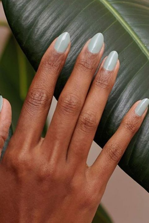 Instagram@paintbox. Simple Sage Nails - 25 Easter Nail Art Ideas You Have To Try This Spring - Easy Easter