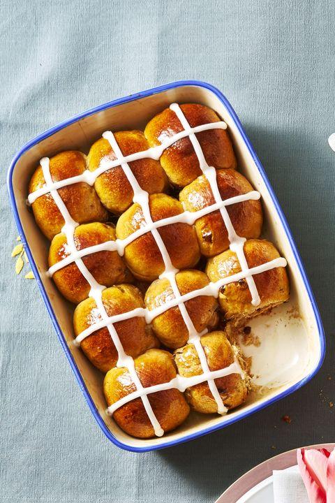 Iced Hot Cross Buns - Easter Dinner Ideas