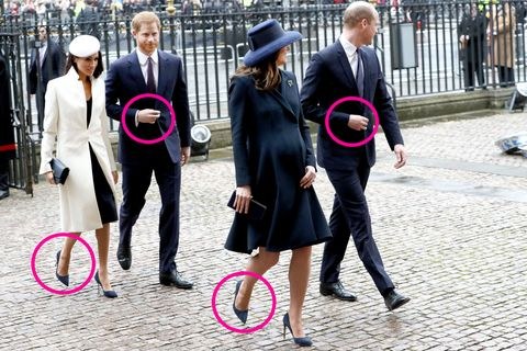 Royal Fab Four arrive at Commonwealth Day service