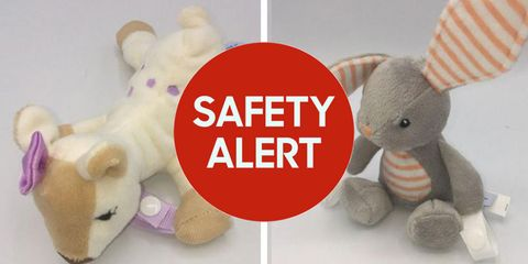 600,000 dr. brown's lovey pacifier and teether holders are being recalled due to choking hazard.