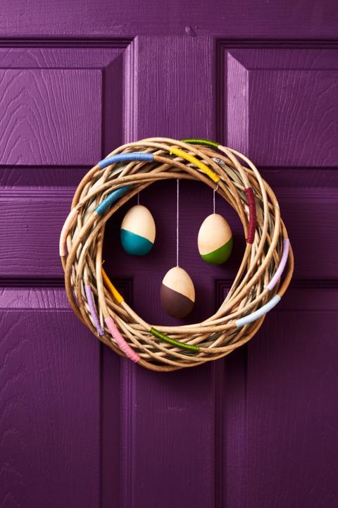 Easter Crafts Easy Purple Door Colorful Wreath