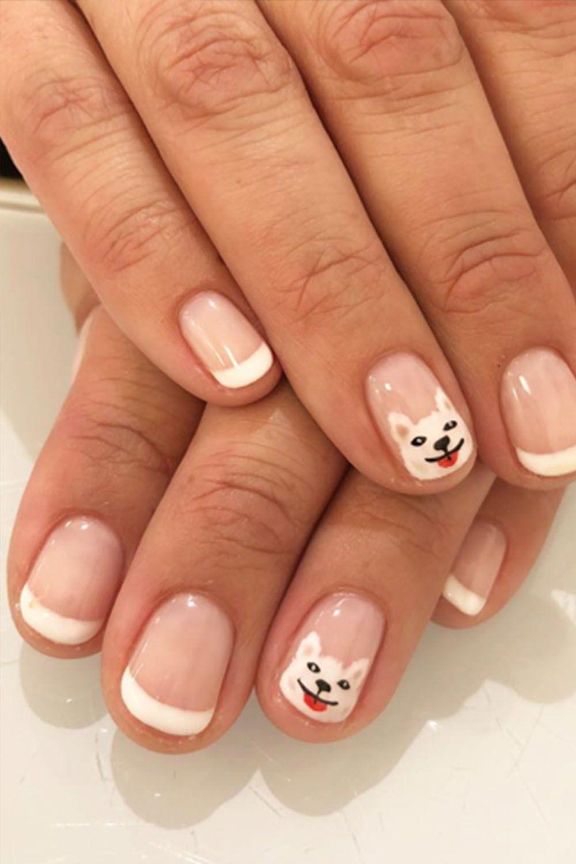 image. Olive \u0026 June. Puppy French Manicure