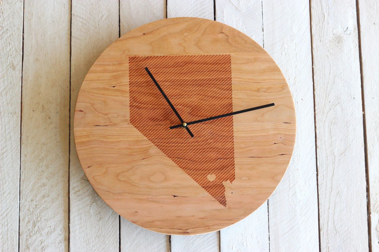 State Shaped Home Decor Personalized Decorating Ideas Circuit Board Desk Clock Uncommongoods