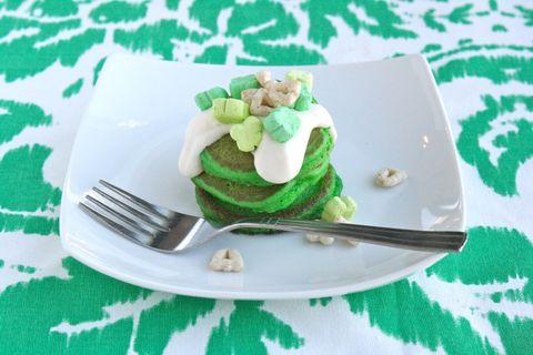 green velvet silver dollar pancakes