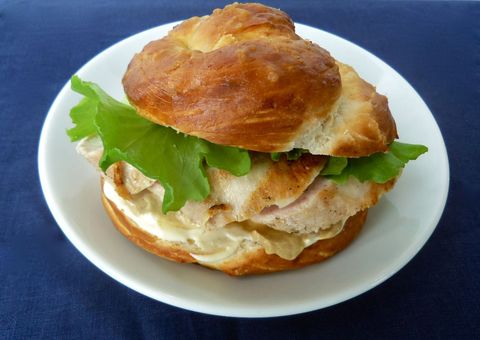 pizza dough pretzel bun