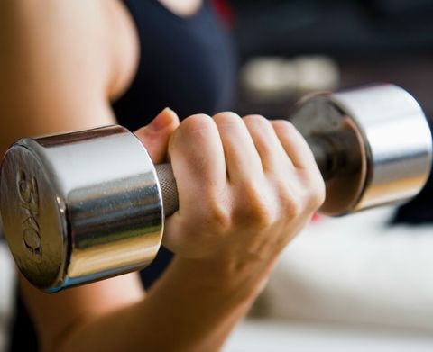 Germiest Spots at the Gym Weights
