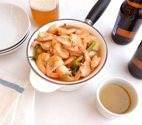 beer boiled shrimp