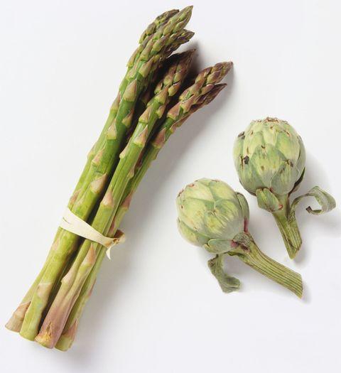 Artichokes and asparagus