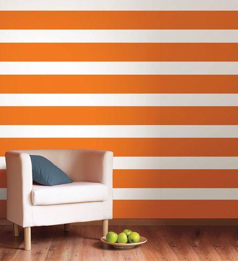 orange striped decal