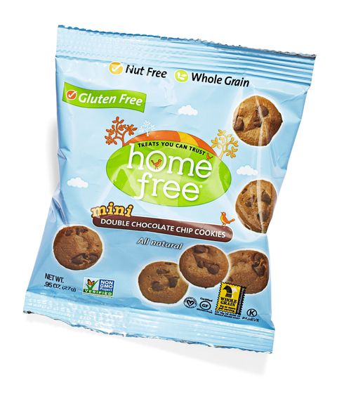 home free mini crunchy double chocolate chip cookies