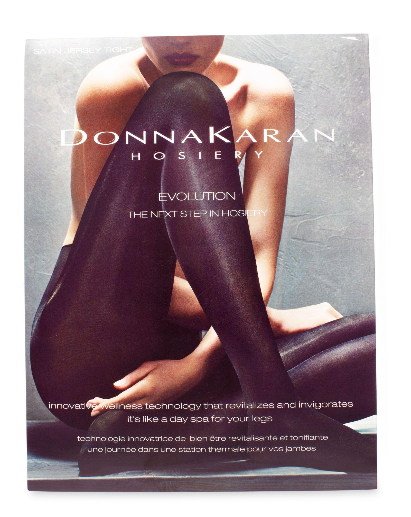 donna karan evolution satin jersey tights