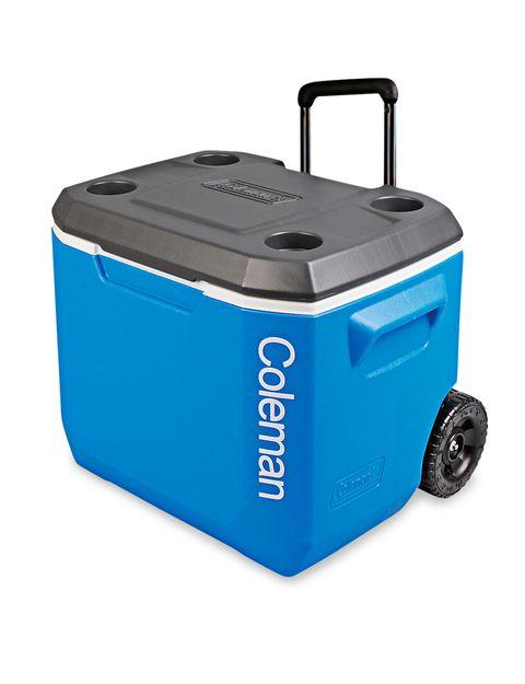 Plastic, Aqua, Electric blue, Azure, Machine, Gas, Home appliance, Kitchen appliance accessory, Baggage, Aluminium,