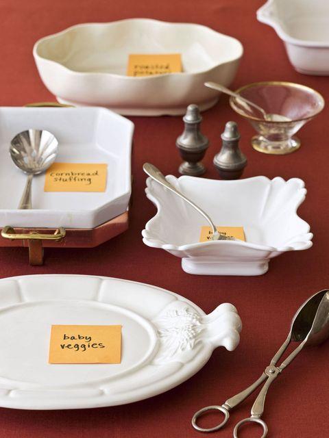 organized holiday dishes