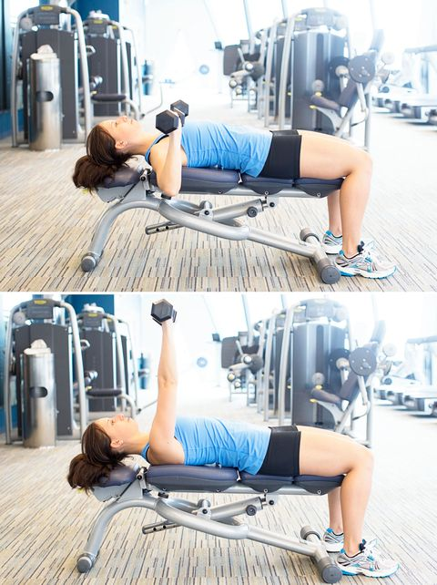 dumbbell chest press on bench