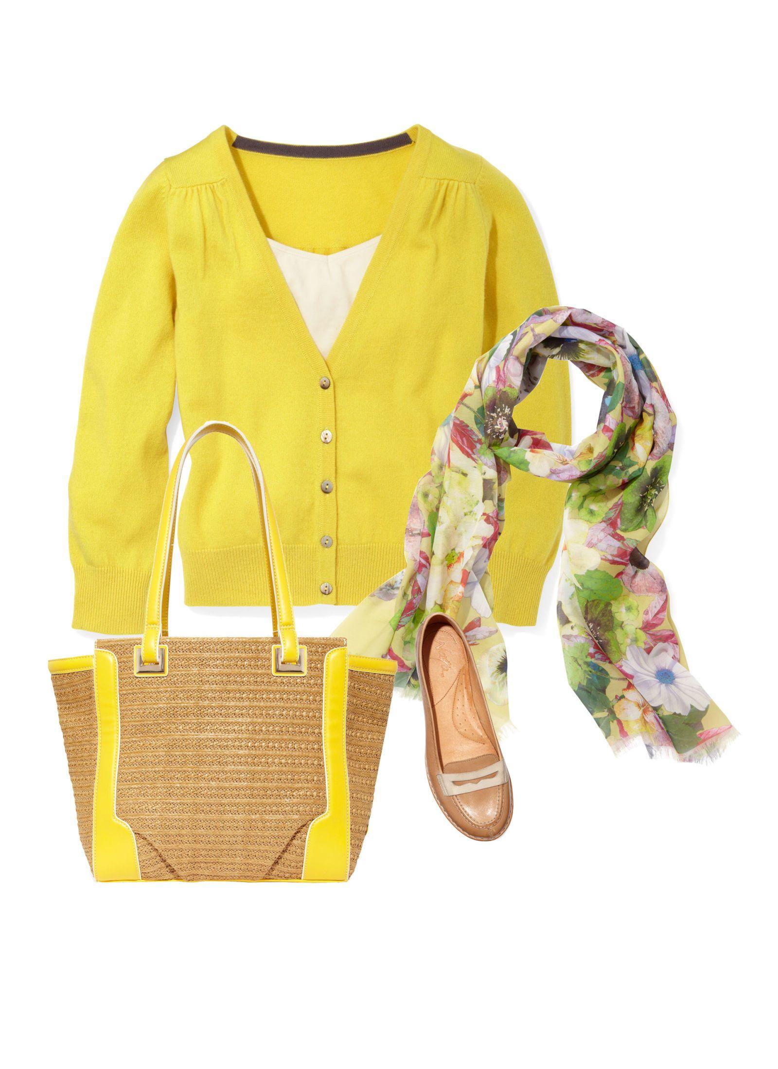 boden yellow cardigan