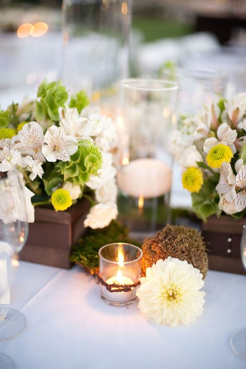 great gatsby party floral centerpieces