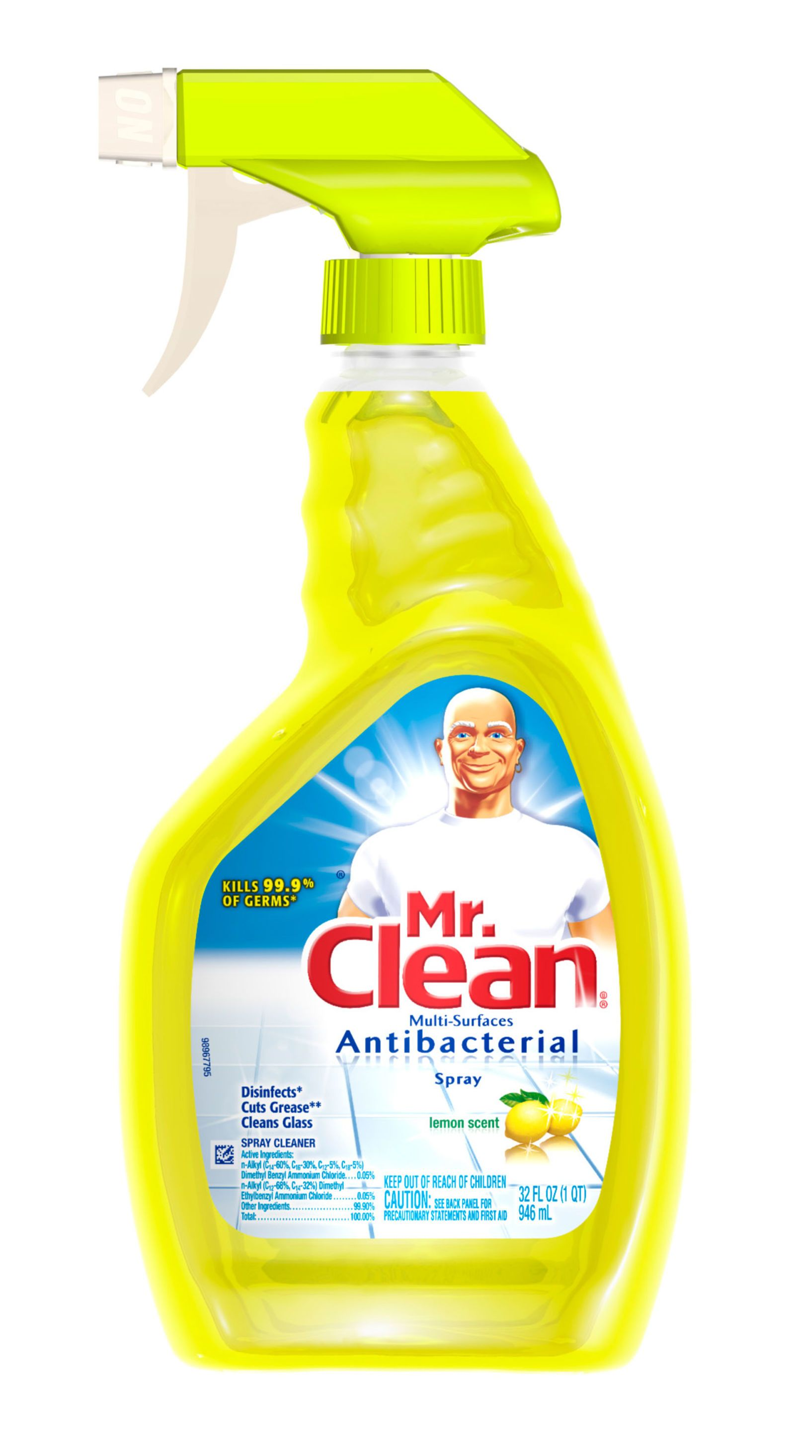 mr clean multi surfaces antibacterial spray lemon scent