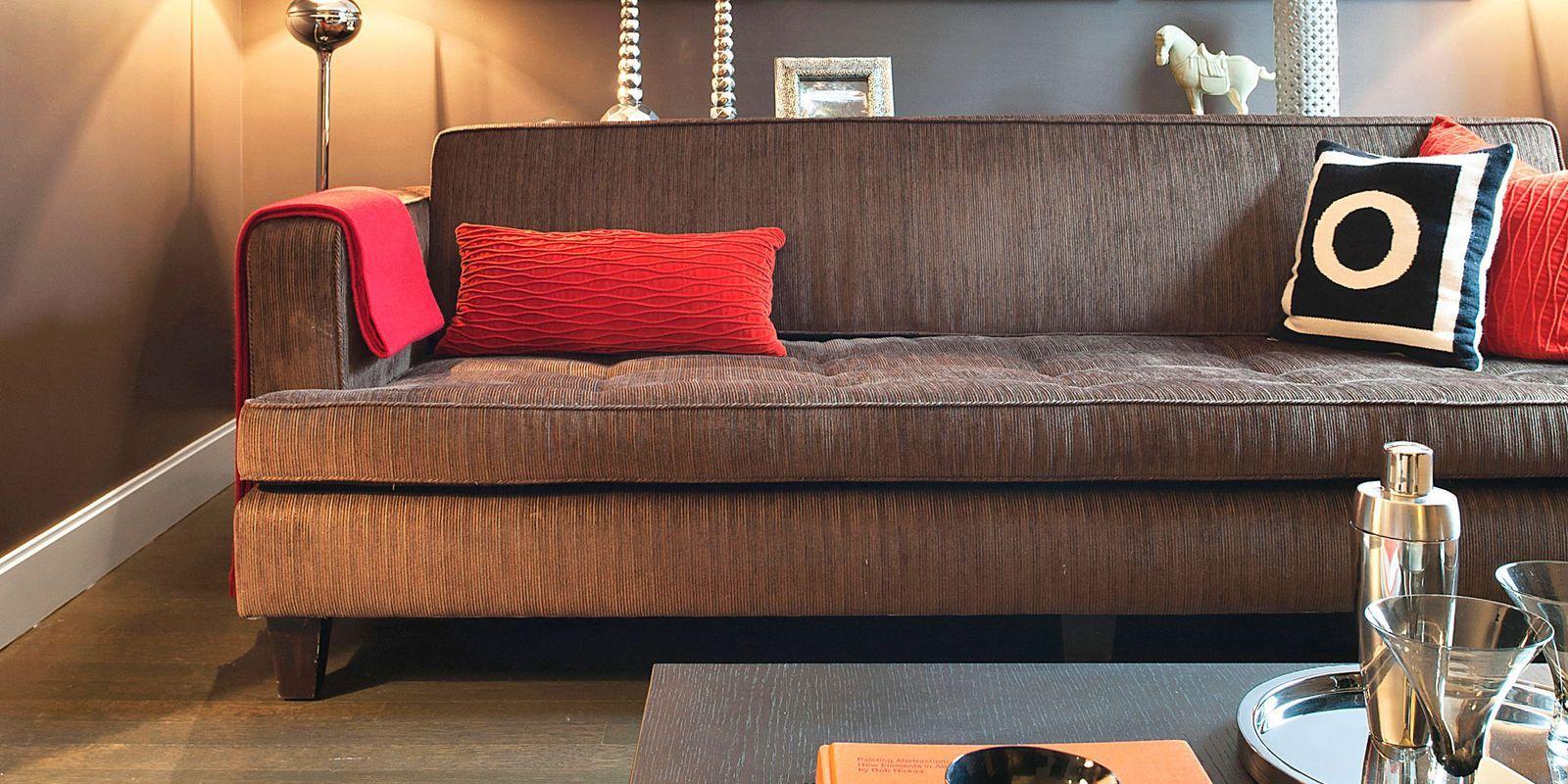 Living Room with Triptych Art & Cheap Home Decor Ideas - Cheap Interior Design