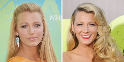 Celebs With Straight and Wavy Hair