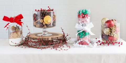Easy Christmas Centerpiece Vases Christmas Tabletop Ideas