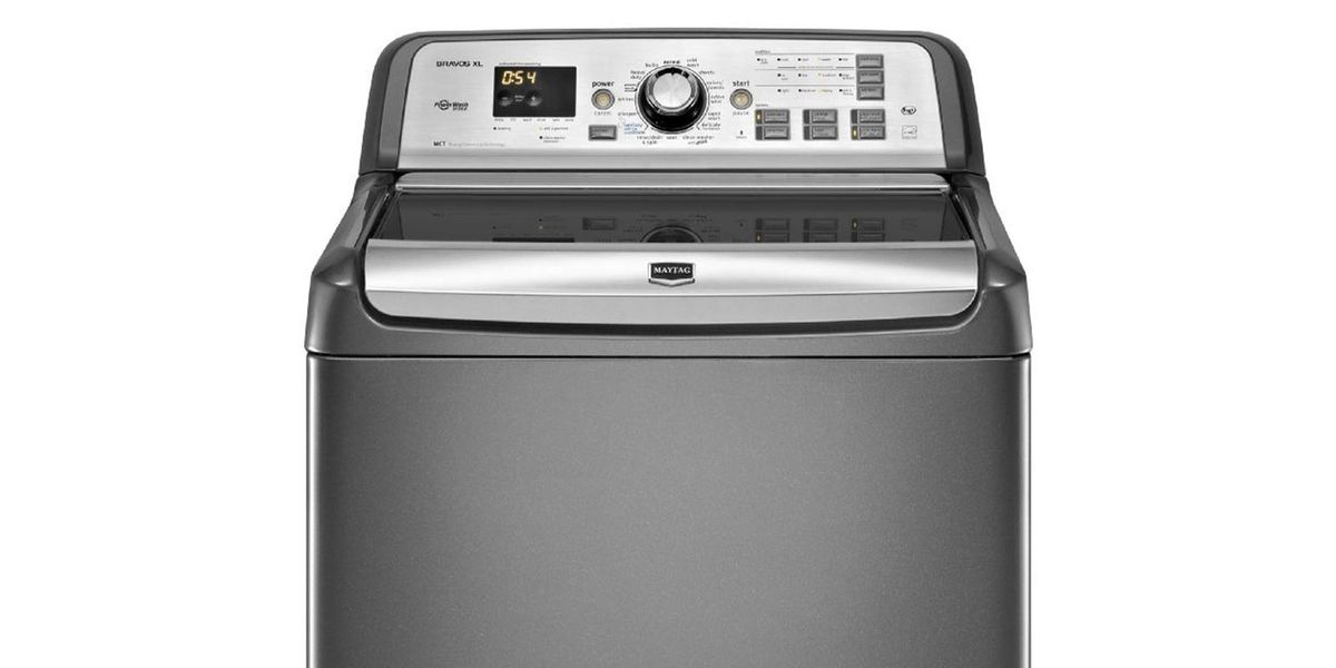 Maytag 4 8 Cu Ft Bravos Xl He Top Load Washer With Steam