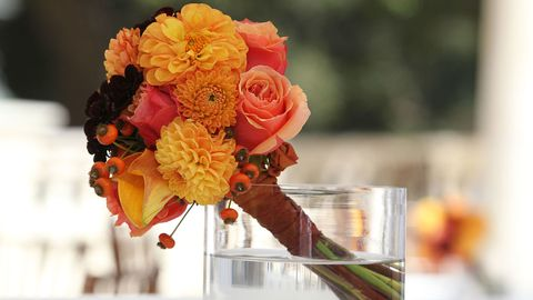 great gatsby party colorful flowers