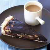 chocolate walnut caramel tart