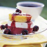 blackberry mango sundaes