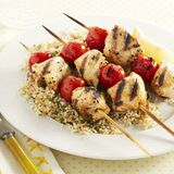 spiced chicken skewers