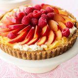 frozen raspberry peach fruit tart