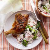 soy glazed chicken with rice salad