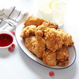fried chicken with spicy raspberry honey